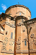 10th century Armenian Orthodox Cathedral of the Holy Cross on Akdamar Island, Lake Van Turkey 74 .<br /> <br /> If you prefer to buy from our ALAMY PHOTO LIBRARY  Collection visit : https://www.alamy.com/portfolio/paul-williams-funkystock/lakevanturkey.html<br /> <br /> Visit our TURKEY PHOTO COLLECTIONS for more photos to download or buy as wall art prints https://funkystock.photoshelter.com/gallery-collection/3f-Pictures-of-Turkey-Turkey-Photos-Images-Fotos/C0000U.hJWkZxAbg