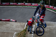 #11 (FIELDS Connor) USA during round 4 of the 2017 UCI BMX  Supercross World Cup in Zolder, Belgium.