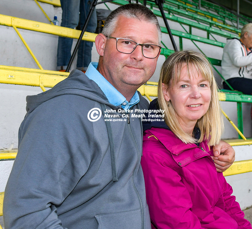 John and Pauline Hetherton, Oldcastle at the Meath v Kerry,  Joe McDonagh Cup match at Pairc Tailteann, Navan.<br /> <br /> Photo: GERRY SHANAHAN-WWW.QUIRKE.IE<br /> <br /> 10-07-2021