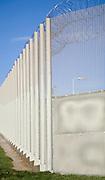 Perimeter fence at Warren Hill prison, Suffolk, England