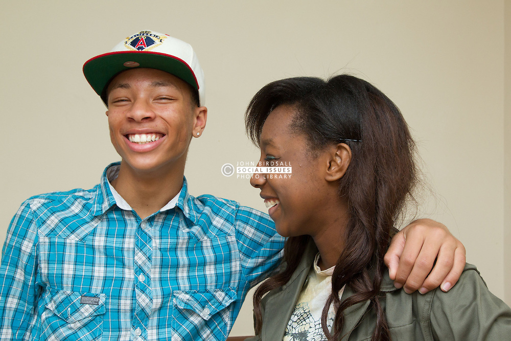 Teenagers laughing. (This photo has extra clearance covering Homelessness, Mental Health Issues, Bullying, Education and Exclusion, as well as the usual clearance for Fostering & Adoption and general Social Services contexts,)