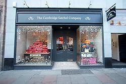 Founder Julie Deane at The Cambridge Satchel Company store in Edinburgh.