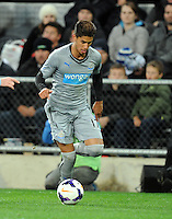 Newcastle United's Ayoze Perez Gutierrez against Sydney FC in the first match of the Football United Tour at Forsyth Barr Stadium, Dunedin, New Zealand, Tuesday, July 22, 2014.