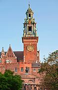Wieża Zegarowa (Salomonowa) - jedna z wież katedry wawelskiej, Kraków, Polska<br /> Clock Tower (Solomonova) - one of the towers of the Wawel Cathedral, Cracow, Poland