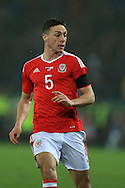 James Chester of Wales looks on. Wales v Northern Ireland, International football friendly match at the Cardiff City Stadium in Cardiff, South Wales on Thursday 24th March 2016. The teams are preparing for this summer's Euro 2016 tournament.     pic by  Andrew Orchard, Andrew Orchard sports photography.