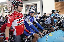 March 10, 2017 - Montalto Di Castro, ITALY - Polish Tomasz Marczynski of Lotto Soudal and Belgian Tom Boonen of Quick-Step Floors pictured during the third stage of the 51st edition of the Tirreno-Adriatico cycling race,204 km from Monterotondo Marittimo to Montalto di Castro, Italy, Friday 10 March 2017. ..BELGA PHOTO YUZURU SUNADA (Credit Image: © Yuzuru Sunada/Belga via ZUMA Press)