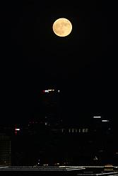 BEIJING, Nov. 14, 2016 (Xinhua) -- The ''supermoon'' is seen over Beijing, capital of China, Nov. 14, 2016. The supermoon is the closest full moon to the earth in 69 years, according to NASA. (Xinhua/Jin Liwang) (mp) (Credit Image: © Jin Liwang/Xinhua via ZUMA Wire)