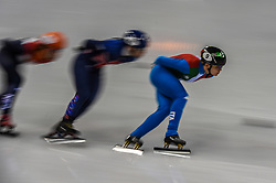 February 17, 2018 - Pyeongchang, Gangwon, South Korea - Arianna Fontana of  Italy competing in 1500 meter speed skating for women at Gangneung Ice Arena, Gangneung, South Korea on 17 February 2018. (Credit Image: © Ulrik Pedersen/NurPhoto via ZUMA Press)