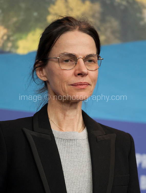 Angela Schanelec, winner of the Silver Bear for Best Director for the film I Was at Home, But at the award winners press conference at the 69th Berlinale International Film Festival, on Saturday 16th February 2019, Hotel Grand Hyatt, Berlin, Germany.