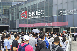 June 7, 2017 - Shanghai, Shanghai, China - Shanghai, CHINA-June 7 2017: (EDITORIAL USE ONLY. CHINA OUT) ..The International Consumer Electronics Show (CES) Asia 2017 is held in Shanghai on June 7th, 2017, featuring products of advanced science and technology including virtual reality (VR), robots and unmanned aerial vehicle (UAV). The show will last until June 9th, 2017. (Credit Image: © SIPA Asia via ZUMA Wire)