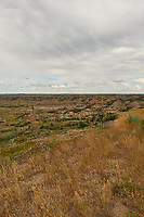 Painted Canyon Overlook Panorama. Theodore Roosevelt National Park. Image 5 of 6 taken with a Nikon D3x camera and 24 mm f/1.4 lens (ISO 100, 24 mm, f/16, 1/50 sec). Raw image processed with Capture One Pro and composite generated using AutoPano Giga Pro.