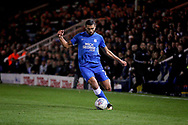 Peterborough United midfielder Colin Daniel (3) gets in a cross during the EFL Sky Bet League 1 match between Peterborough United and Accrington Stanley at London Road, Peterborough, England on 20 October 2018.