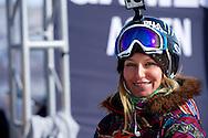 Jamie Anderson during Women's Snowboard Slopestyle Practice at 2014 X Games Aspen at Buttermilk Mountain in Aspen, CO. ©Brett Wilhelm/ESPN