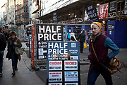 Half price tickets to Theatre shows in the West End on sale at a discount ticket shop in Leicester Square in the heart of Theaterland.