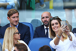 September 23, 2017 - Rome, Italy - Former Roma player and actually in the Club staff Francesco Totti with AS Roma Sport Director Ramon Rodriguez Verdejo commonly known as Monchi during the Italian Serie A football match AS Roma vs Udinese on September 23, 2017 at the Olympic stadium in Rome. (Credit Image: © Matteo Ciambelli/NurPhoto via ZUMA Press)