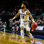 Mar 11 2019  Las Vegas, NV, U.S.A. Gonzaga guard Josh Perkins (13) brings the ball up court during the NCAA  West Coast Conference Men's Basketball Tournament semi -final between the Pepperdine Wave and the Gonzaga Bulldogs 100-74 win at Orleans Arena Las Vegas, NV.  Thurman James / CSM
