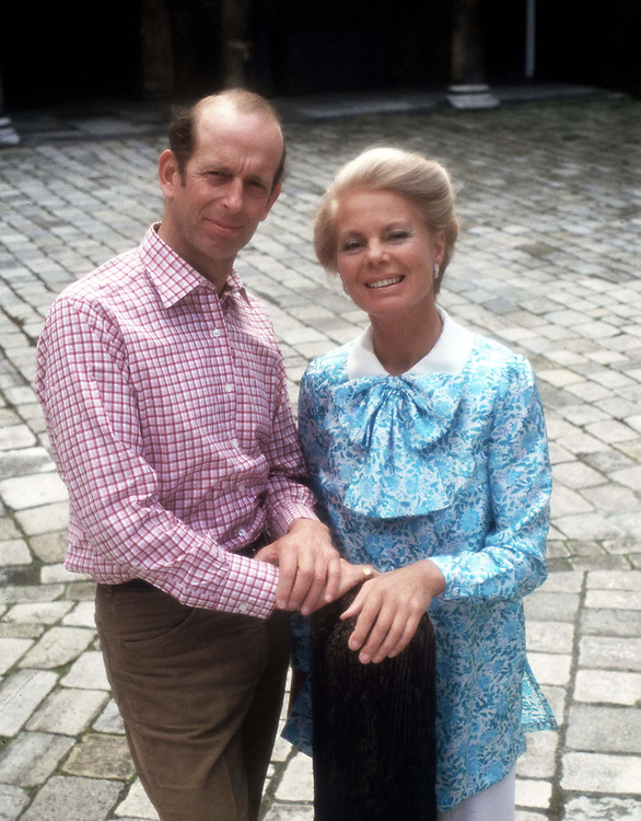 The Duke and Duchess of Kent pose for an official portrait to celebrate their Silver  wedding anniversary in 1986. Photographed at St. James Palace, London by Jayne Fincher