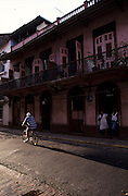 Casco Antiguo area in Panama City. This old neighborhood is a UNESCO World Heritage site