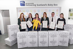Pictured: Emily Wilson, (15) St Luke's High School Barrhead, Demi Burnett, (12) Banff Academy in Macduff, Holly Henry, (16) St Colkumba's Kilmacom, Maree Todd, Soinny Robertson,(17) Trinity Academy Edinburgh and Edith Macdonald, (13) Community School of Auchterarder.<br />