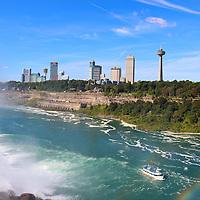 """Maid of the Misty Rainbow""  <br /> <br /> Niagara Falls USA.<br /> <br /> Waterfalls by Rachel Cohen"