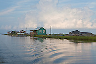 Fishing camps in the marsh between Isle de Jean Charles and Pointe-Aux-Chien in Terribone Parish Louisiana. Many of the areas camps were destroyed by Hurricane Rita.  The Island is under constant threat of flooding due to coastal erosion.
