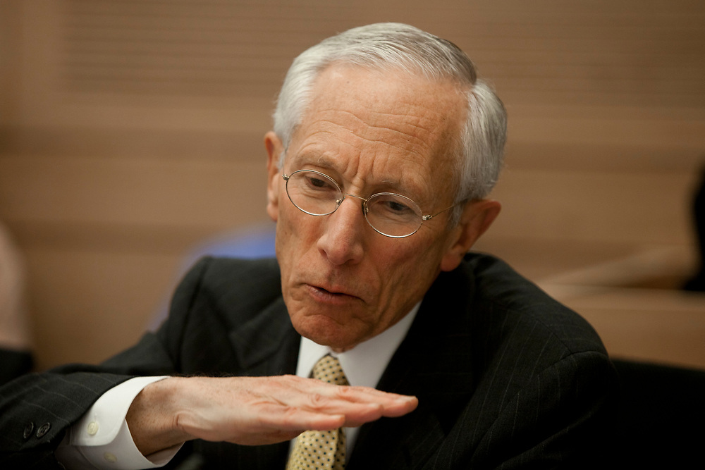 Bank of Israel Governor, Prof. Stanley Fischer attends a session of the Finance Committee at the Knesset, Israel's Parliament in Jerusalem, on November 23, 2011.