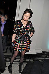 RACHAEL STIRLING at a private view of Photographs by Cecil Beaton celebrating the diamond jubilee of HM The Queen Elizabeth 11 at the Victoria & Albert Museum, Cromwell Road, London on 6th February 2012.