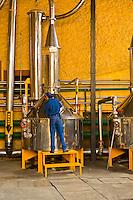 Distillation plant, Casa Herradura tequila distillery, town of Tequila, Jalisco, Mexico