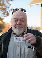 "Dave Bodge Laconia, NH.  Dave said ""It's critical to vote.  I do care who you vote for.  It's an important privilege"".  Voted for Hillary Clinton.  (Karen Bobotas/for the Laconia Daily Sun)"