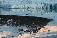 14.06.2008.Fjallsjokull glacier.Vatnajokull ice cap, Iceland
