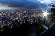 Sunset view of Bogota, Colombia.