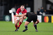 Ken Owens of Wales runs with the ball during the Rugby World Cup bronze final match between New Zealand and Wales Friday, Nov, 1, 2019, in Tokyo. New Zealand defeated Wales 40-17.  (Flor Tan Jun/Espa-Images-Image of Sport)