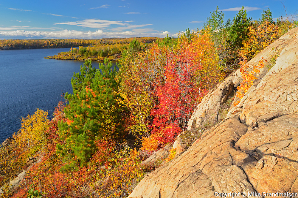 Lake Laurentian veiwed from the top of the 'red trail'.<br /> <br /> Sudbury<br /> Ontario<br /> Canada