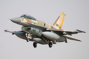 Fully armed IAF F-16I Fighter jet