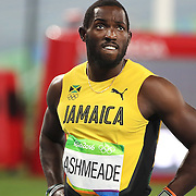 Athletics - Olympics: Day 9  Nickel Ashmeade of Jamaica after failing to qualify for the final of the Men's 100m at the Olympic Stadium on August 14, 2016 in Rio de Janeiro, Brazil. (Photo by Tim Clayton/Corbis via Getty Images)