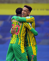 Football - 2020 / 2021 Premier League - Chelsea vs West Bromwich Albion - Stamford Bridge<br /> <br /> Callum Robinson of West Brom celebrates scoring goal no 5 with Ainsley Maitland - Niles<br /> <br /> Credit COLORSPORT/Andrew Cowie