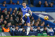 Gary Cahill of Chelsea in action. Premier league match, Chelsea v Stoke city at Stamford Bridge in London on Saturday 31st December 2016.<br /> pic by John Patrick Fletcher, Andrew Orchard sports photography.