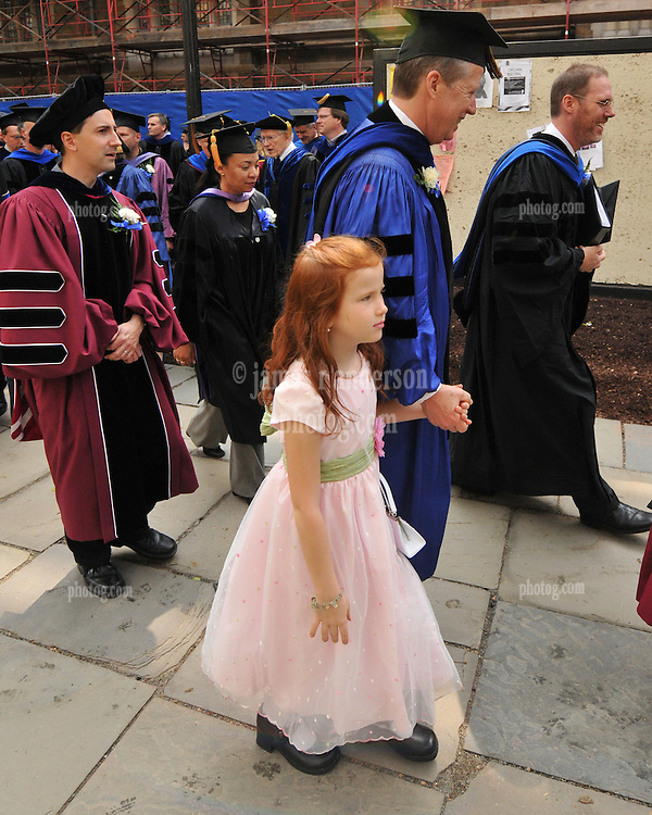 Child, probably with Parent or Friend, in Procession, at Yale University Commencement 2009