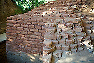 Original foundation stones  of the fortification wall and towers of Troia II & III  circa 2500 B.C. Troy archaeological site, A UNESCO World Heritage Site, Turkey .<br /> <br /> If you prefer to buy from our ALAMY PHOTO LIBRARY  Collection visit : https://www.alamy.com/portfolio/paul-williams-funkystock/troy-archaeological-site-turkey.html<br /> <br /> Visit our ANCIENT WORLD PHOTO COLLECTIONS for more photos to download or buy as wall art prints https://funkystock.photoshelter.com/gallery-collection/Ancient-World-Art-Antiquities-Historic-Sites-Pictures-Images-of/C00006u26yqSkDOM