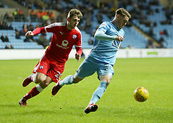 Coventry City's Jordan Ponticelli  and Chesterfield's Laurence Maguire