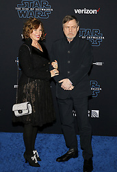 Mark Hamill and Marilou York at the World premiere of Disney's 'Star Wars: The Rise Of Skywalker' held at the Dolby Theatre in Hollywood, USA on December 16, 2019.