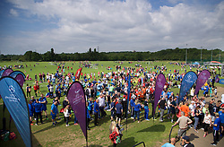 CARDIFF, WALES - Thursday, June 1, 2017: Players register at the FAW National Women's & Girls Football Festival in at the Cardiff University Sports Fields in Llanrumney. (Pic by David Rawcliffe/Propaganda)