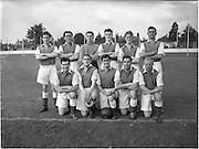 14/09/1952<br /> 09/14/1952<br /> 14 September 1952<br /> Soccer: Waterford v Transport at Harolds Cross Park, which Waterford won.The Transport Team.