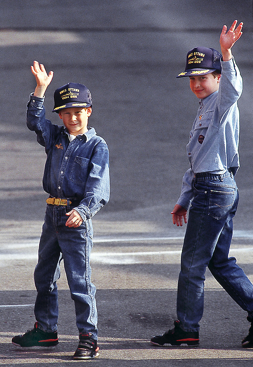 Prince William and Prince Harry seen in Toronto, Canada during an official visit in 1991. Photograph by Jayne Fincher