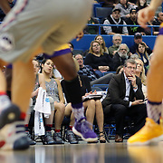HARTFORD, CONNECTICUT- JANUARY 4: Head coach Geno Auriemma of the Connecticut Huskies and the UConn bench watching action during the UConn Huskies Vs East Carolina Pirates, NCAA Women's Basketball game on January 4th, 2017 at the XL Center, Hartford, Connecticut. (Photo by Tim Clayton/Corbis via Getty Images)