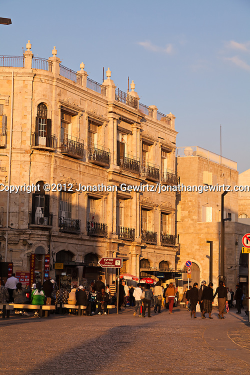 The Imperial Hotel, just inside the Jaffa Gate of the Old City of Jerusalem. WATERMARKS WILL NOT APPEAR ON PRINTS OR LICENSED IMAGES.