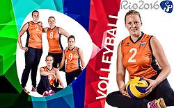11-09-2015 NED: Photoshoot Zitvolleybalteam  Nederland vrouwen, Doorn<br /> In het Militair Revalidatie Centrum Aardenburg werd het Nederlands Zitvolleybalteam geportretteerd