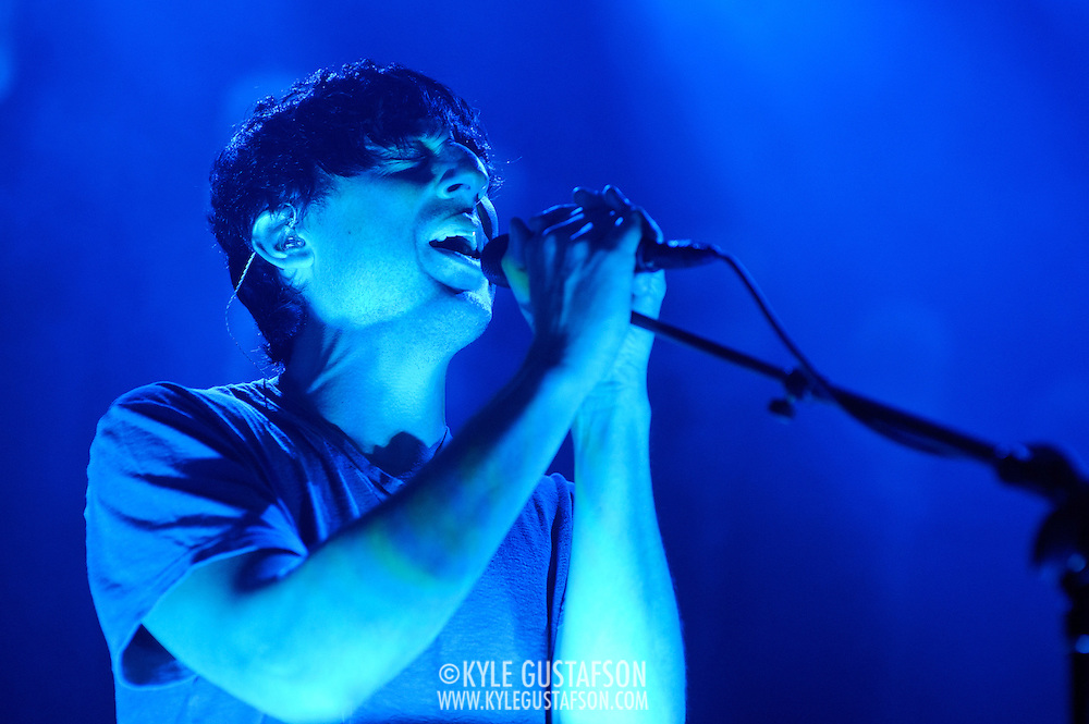 WASHINGTON, DC - September 20th, 2012 - Ed Droste of Grizzly Bear performs during the first of two sold-out shows at the 9:30 Club in Washington, D.C. On Tuesday the band released their latest album, Shields, the follow up to 2009's critically acclaimed Veckatimest. (Photo by Kyle Gustafson/For The Washington Post)