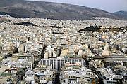 Griekenland, Athene, 5-7-2008Uitzicht op de stad bij zonsondergang. LandschapFoto: Flip Franssen