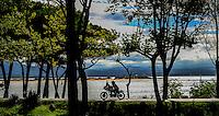 29-09-2013 Santander<br /> IV Gran Carrera Motos Clasicas en el Palacio de la Magdalena<br /> Miguel Garcia Matesanz, con la moto Triumph Dresda<br /> <br /> Fotos: Juan Manuel Serrano Arce